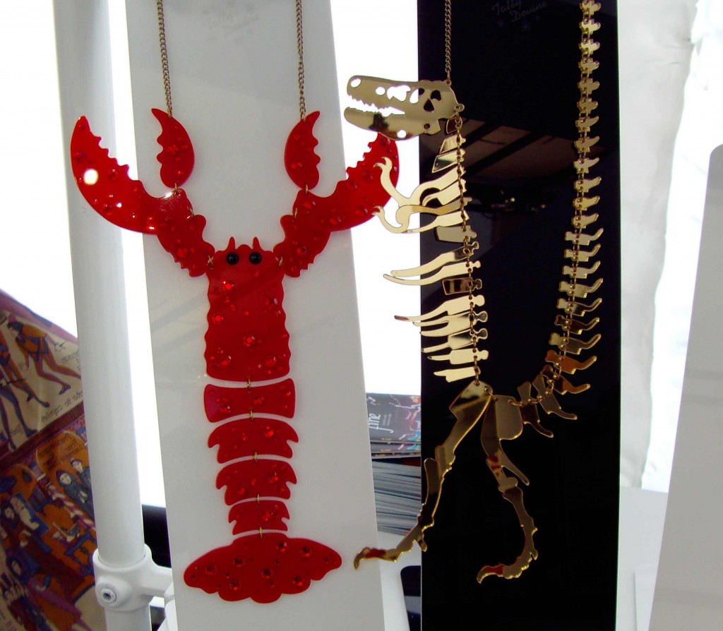 Tatty Devine Scorpion & Dinosaur Necklace