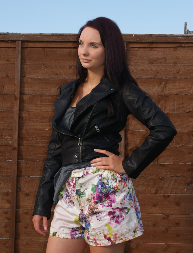 Topshop Clean Biker Faux Leather Jacket Outfit