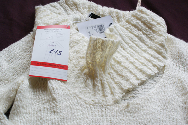 Reiss Posey Cream Knitter Jumper