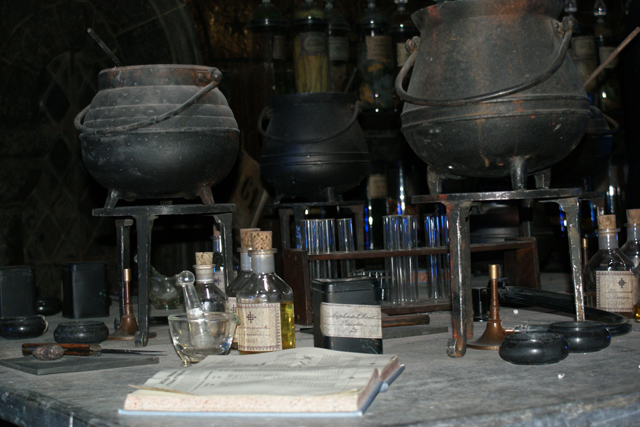 Potions class at Warner Brothers Harry Potter Studio Tour