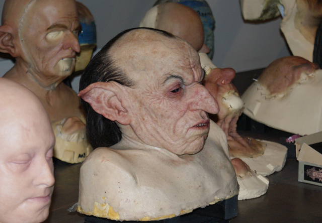 Prosthetics from Harry Potter at Warner Brothers Studio Tour