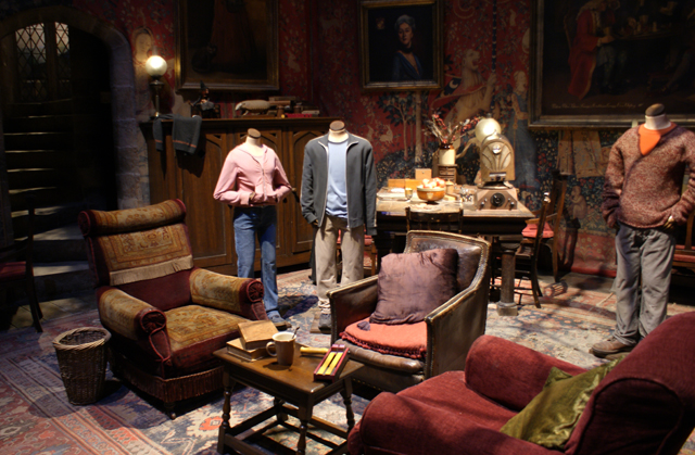 Griffindor Common Room at Warner Brothers Harry Potter Studio Tour