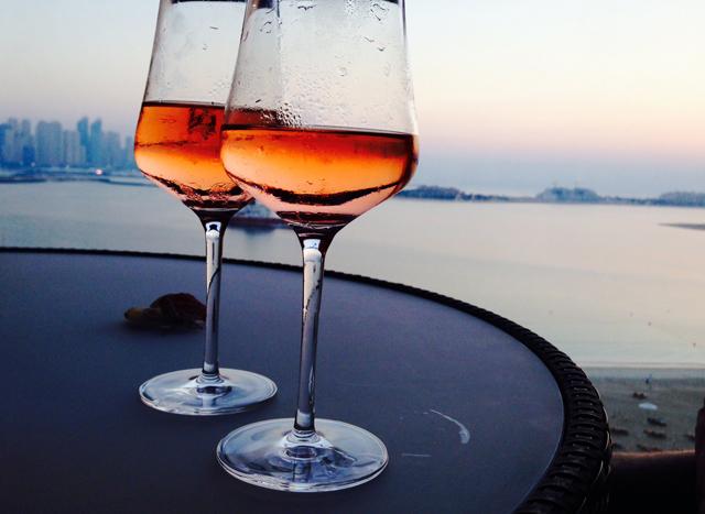 wine in Dubai fairmont hotel the palm